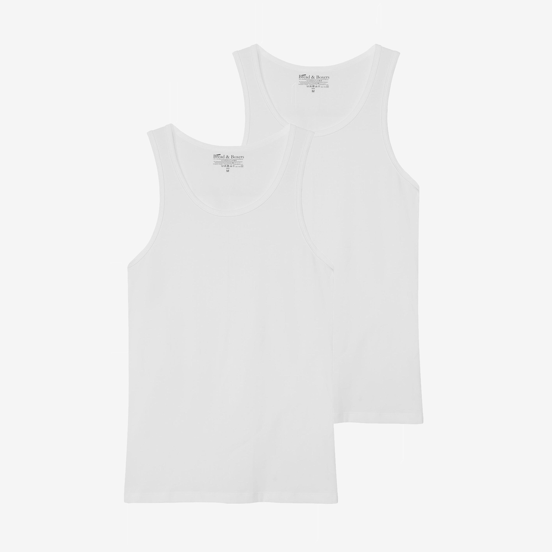 Tank cotton-stretch 2-pack