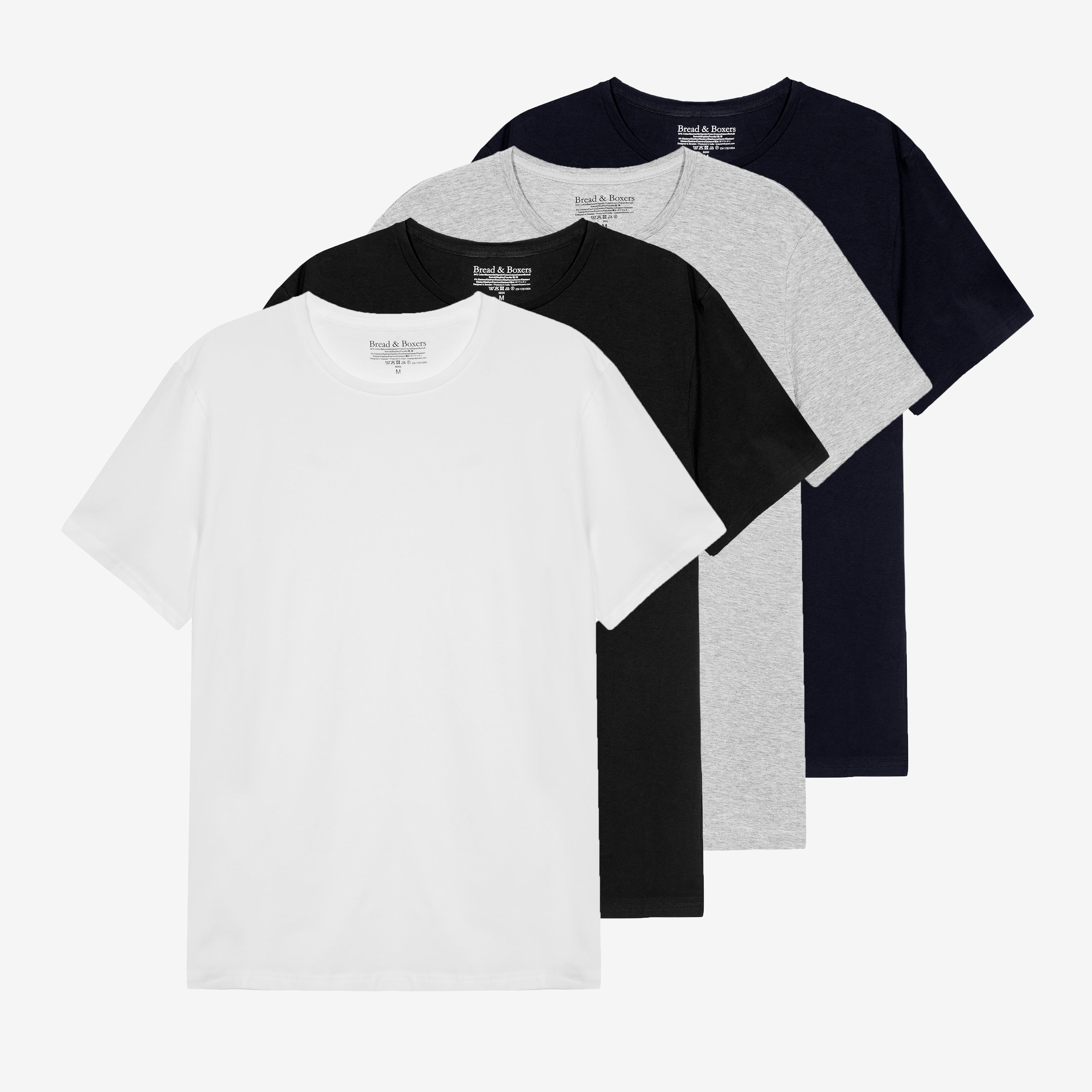 Crew-Neck 4-pack mixed