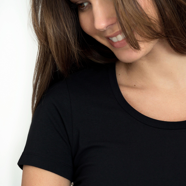 T-shirt cotton-stretch